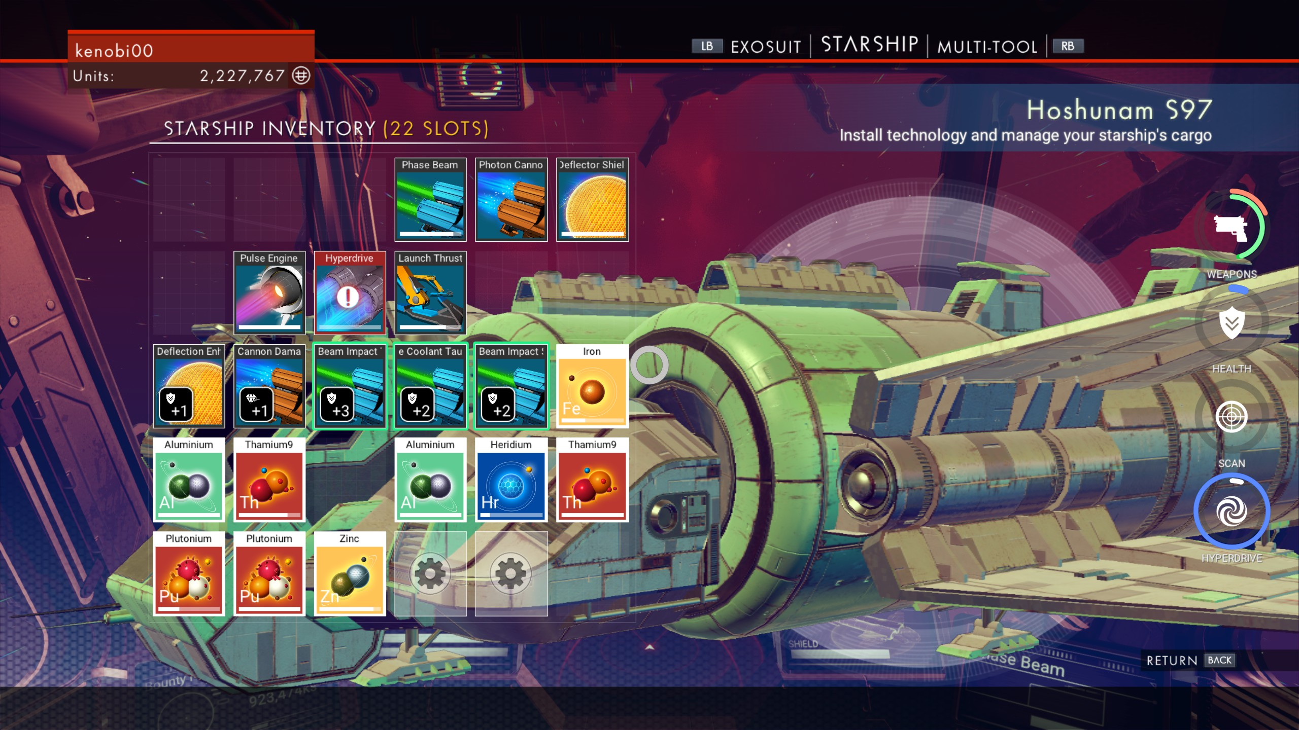 No Man's Sky - Ship Inventory